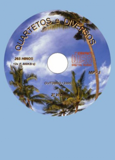 Quartetos Diversos - 261 Hinos - CD-MP3