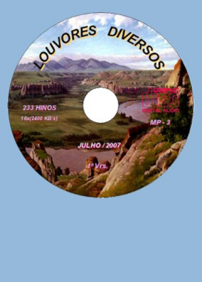 Louvores Diversos - 233 Hinos - CD-MP3
