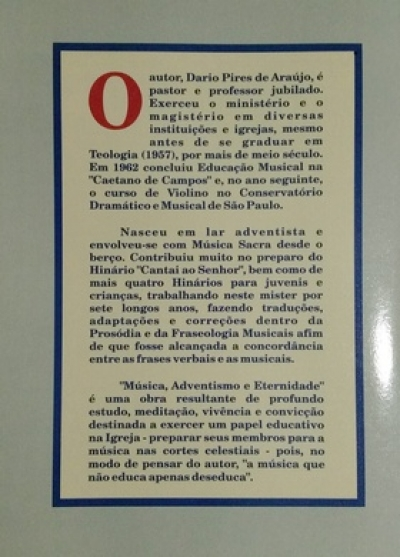 Música Adventismo e Eternidade - Livro p/ Download